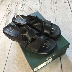 Clark's leather wedge sandals